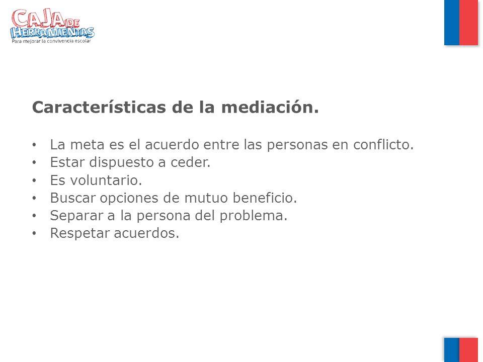 Características de la mediación.