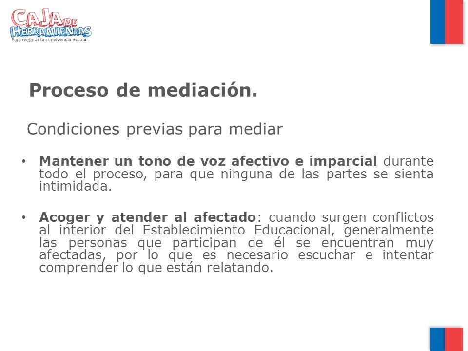 Proceso de mediación. Condiciones previas para mediar
