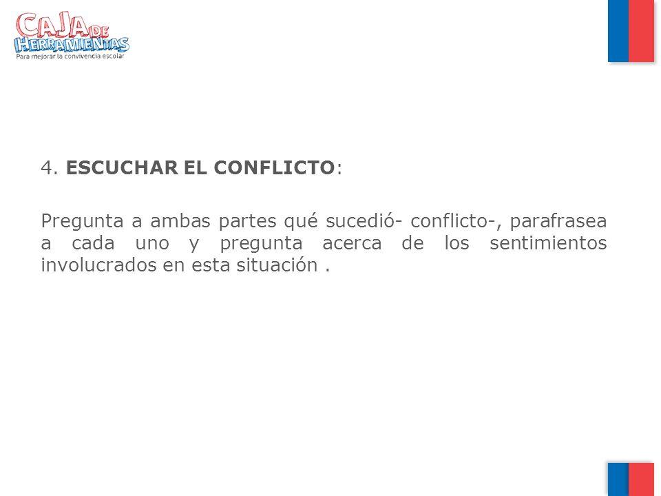 ESCUCHAR EL CONFLICTO: