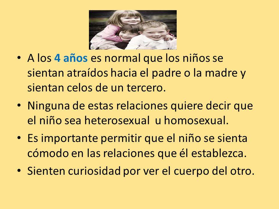A los 4 años es normal que los niños se sientan atraídos hacia el padre o la madre y sientan celos de un tercero.
