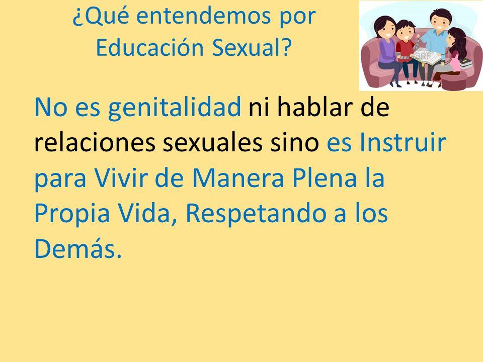 ¿Qué entendemos por Educación Sexual