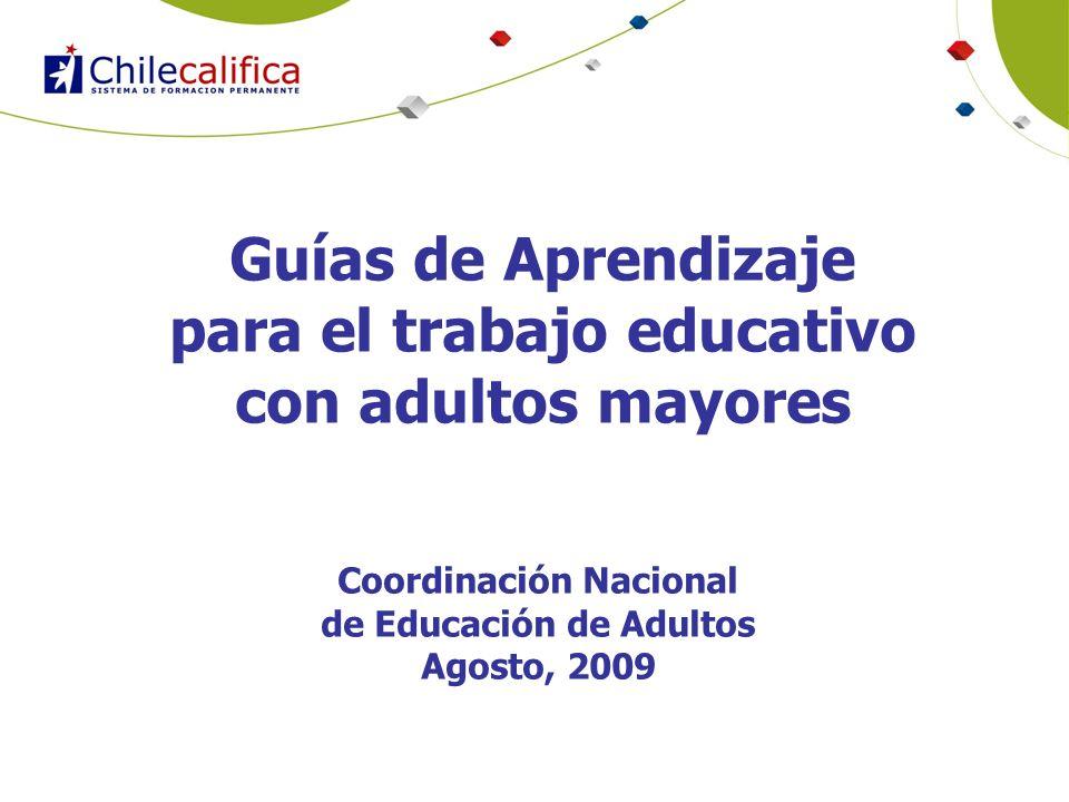 Guías de Aprendizaje para el trabajo educativo con adultos mayores