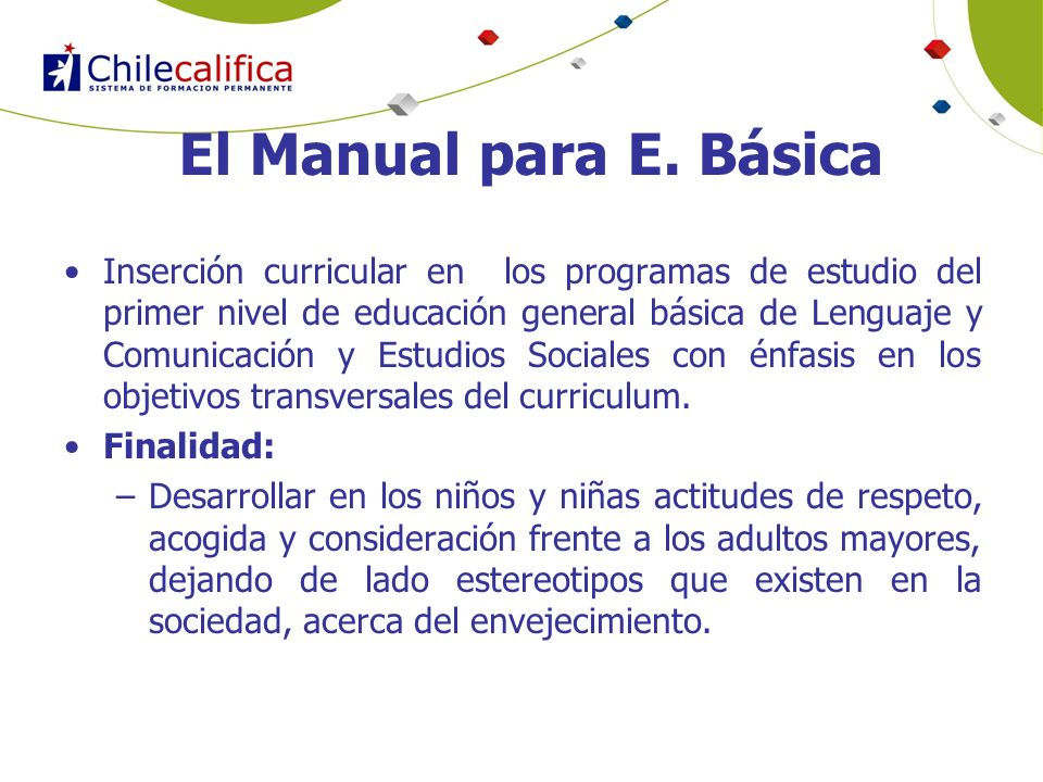 El Manual para E. Básica