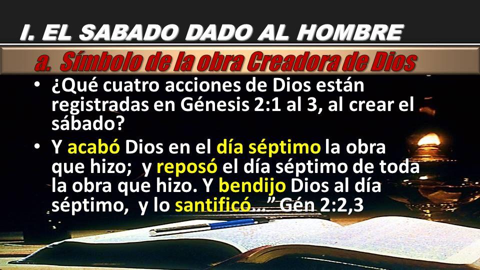 a. Símbolo de la obra Creadora de Dios
