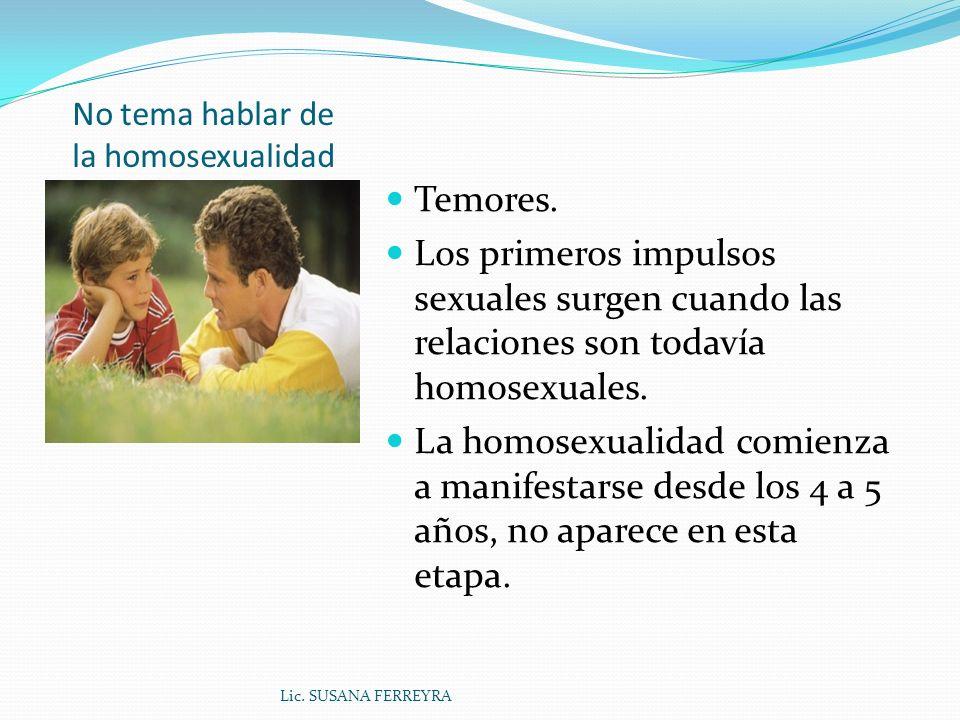 No tema hablar de la homosexualidad