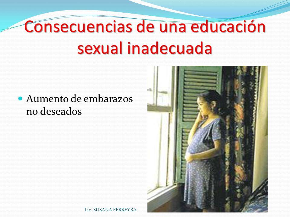 Consecuencias de una educación sexual inadecuada