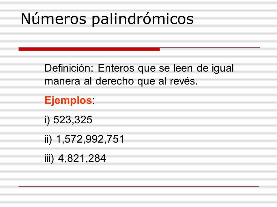 Números palindrómicos