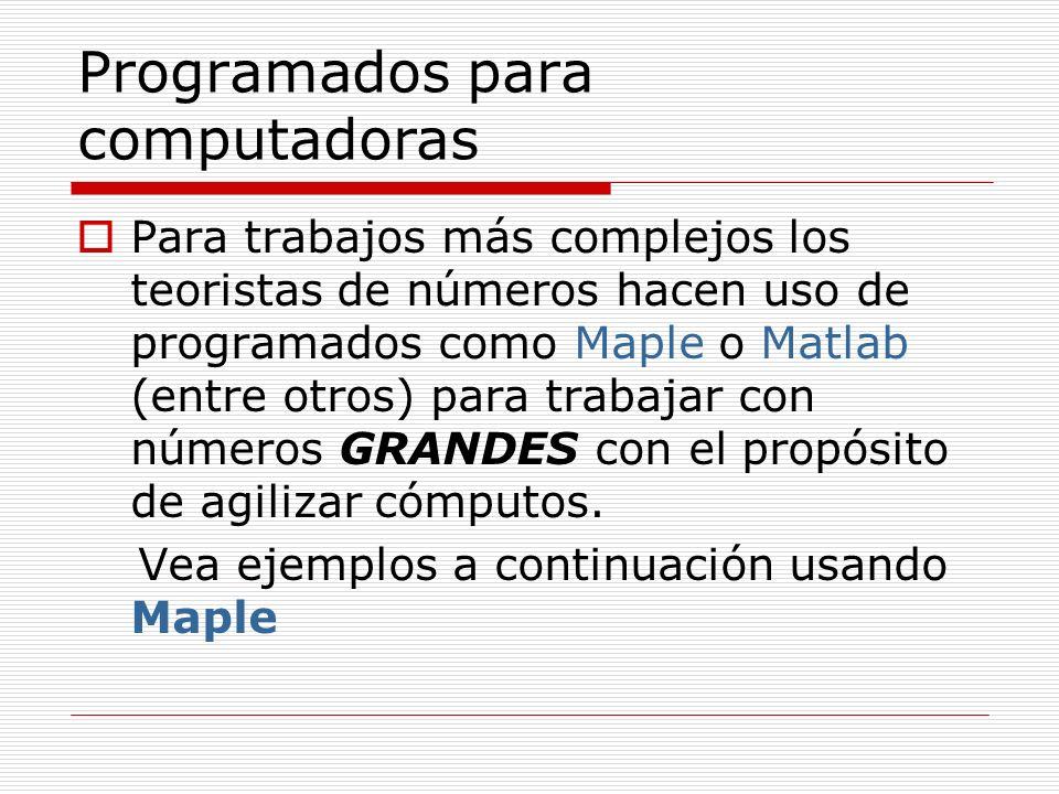 Programados para computadoras