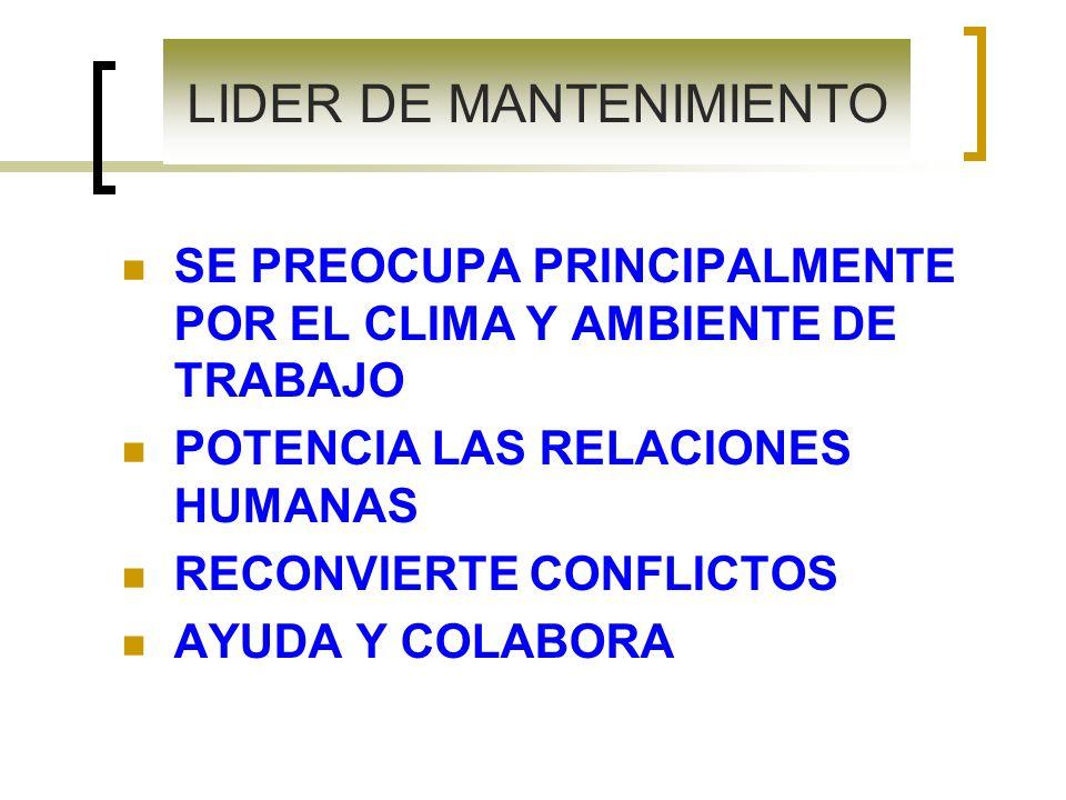 LIDER DE MANTENIMIENTO