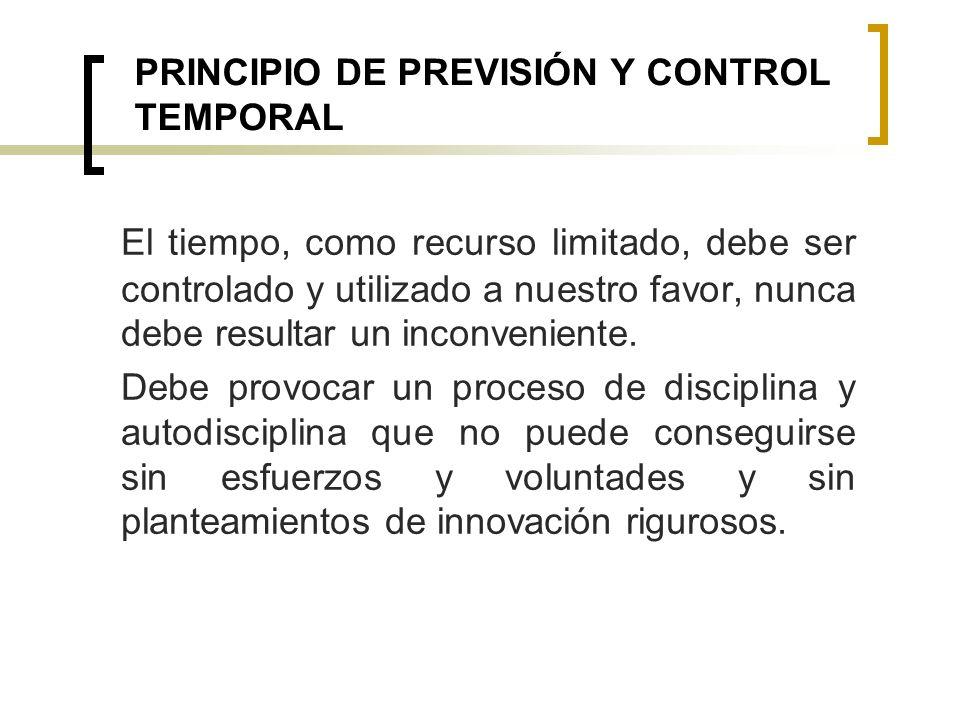 PRINCIPIO DE PREVISIÓN Y CONTROL TEMPORAL