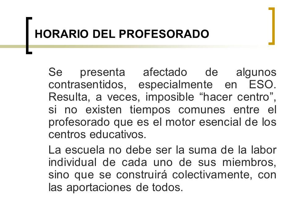 HORARIO DEL PROFESORADO