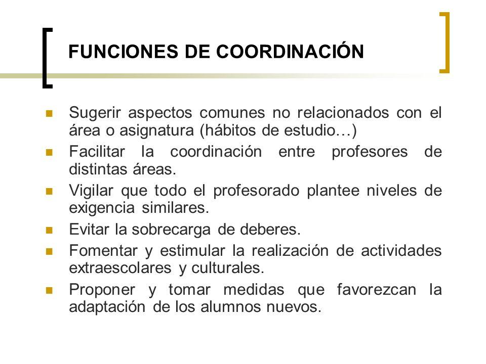 FUNCIONES DE COORDINACIÓN