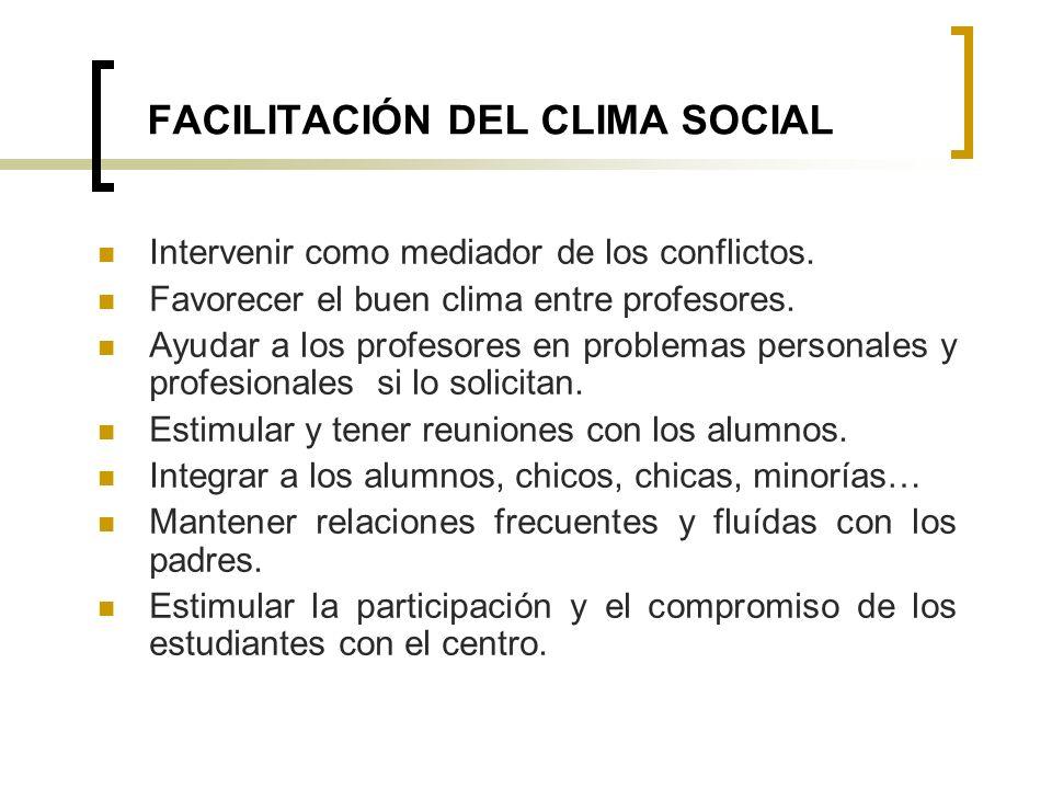 FACILITACIÓN DEL CLIMA SOCIAL