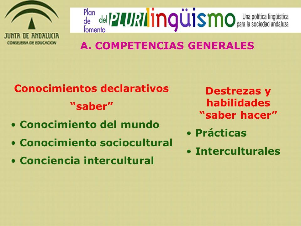 A. COMPETENCIAS GENERALES