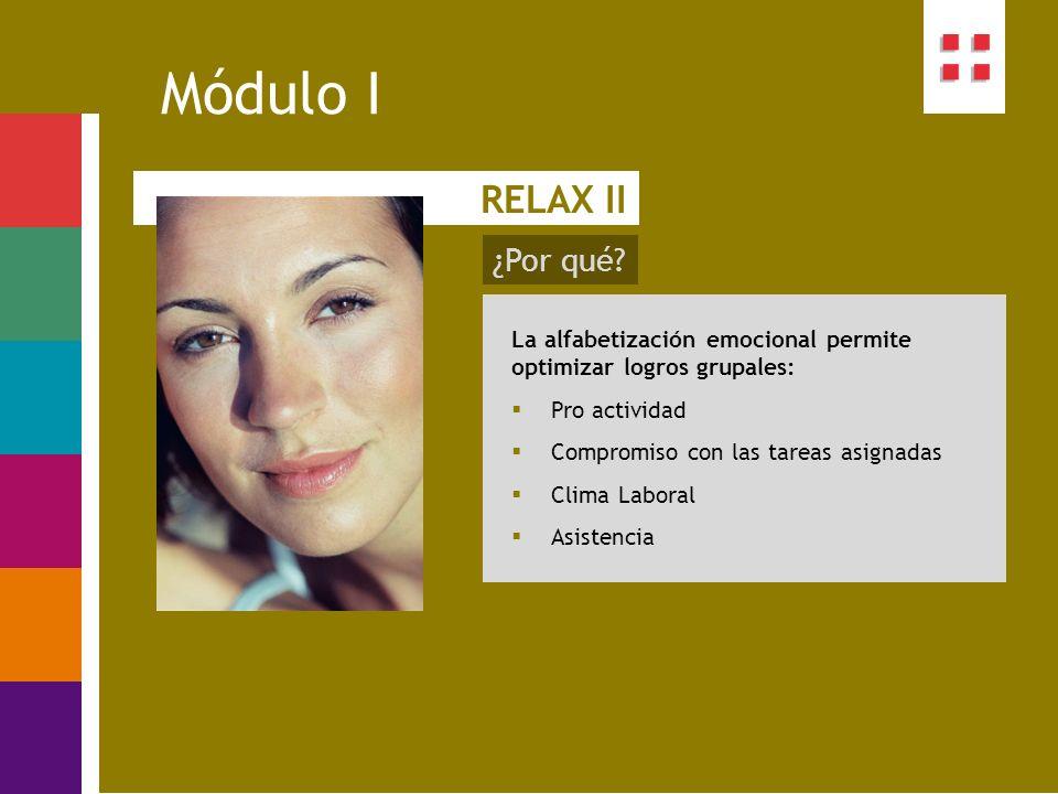 Módulo I RELAX II ¿Por qué
