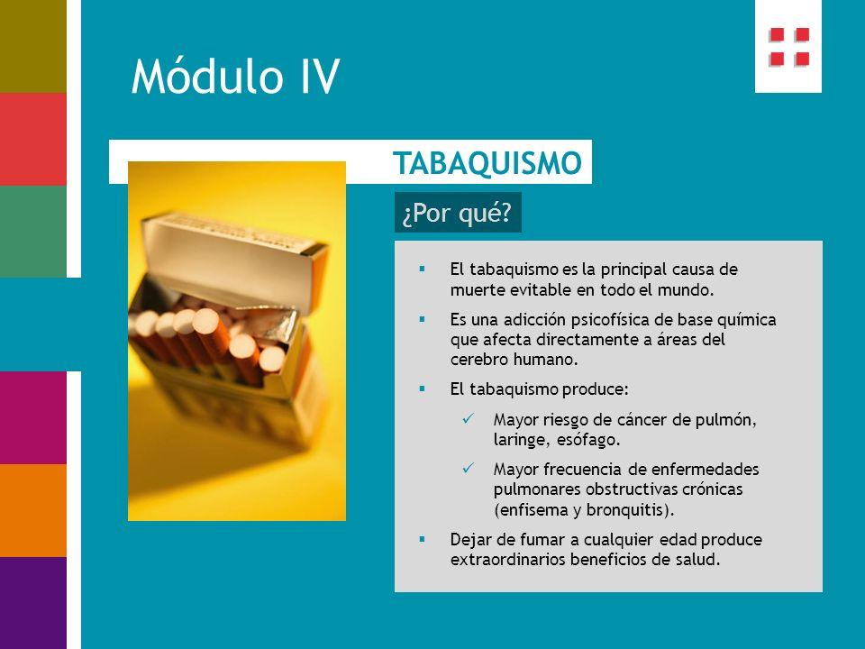 Módulo IV TABAQUISMO ¿Por qué