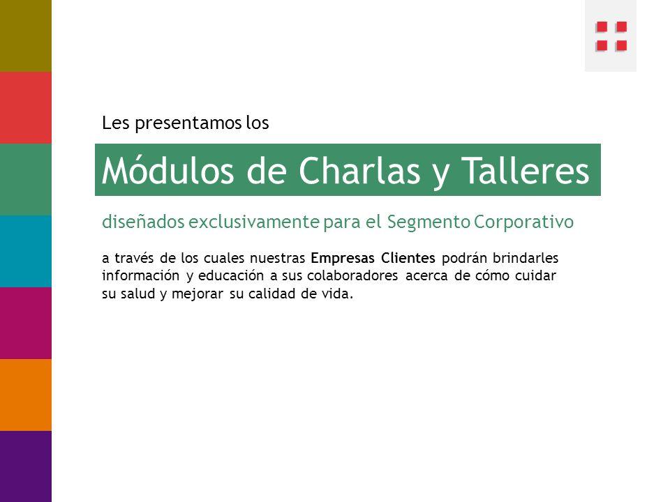 Módulos de Charlas y Talleres