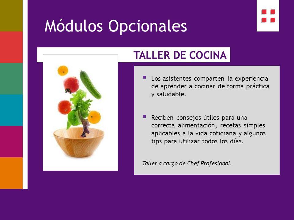Módulos Opcionales TALLER DE COCINA