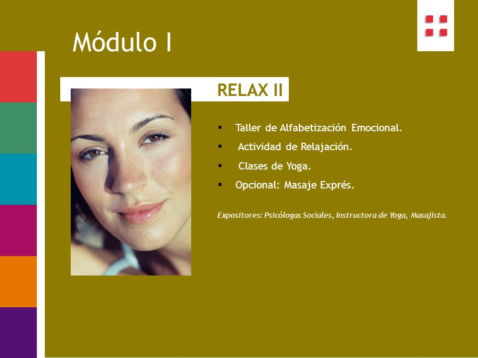 Módulo I RELAX II Taller de Alfabetización Emocional.