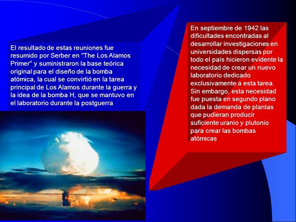 En septiembre de 1942 las dificultades encontradas al desarrollar investigaciones en universidades dispersas por todo el país hicieron evidente la necesidad de crear un nuevo laboratorio dedicado exclusivamente a esta tarea. Sin embargo, esta necesidad fue puesta en segundo plano dada la demanda de plantas que pudieran producir suficiente uranio y plutonio para crear las bombas atómicas