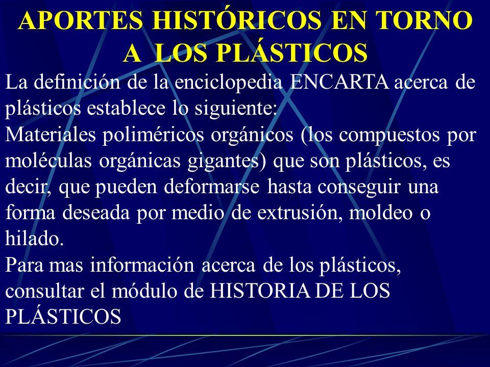 APORTES HISTÓRICOS EN TORNO A LOS PLÁSTICOS