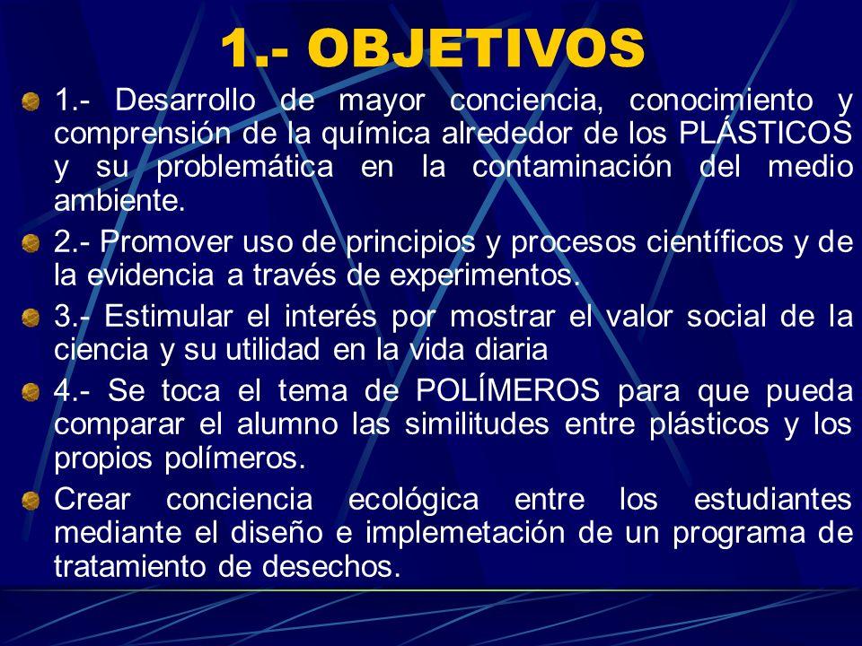 1.- OBJETIVOS