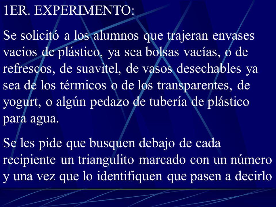 1ER. EXPERIMENTO: