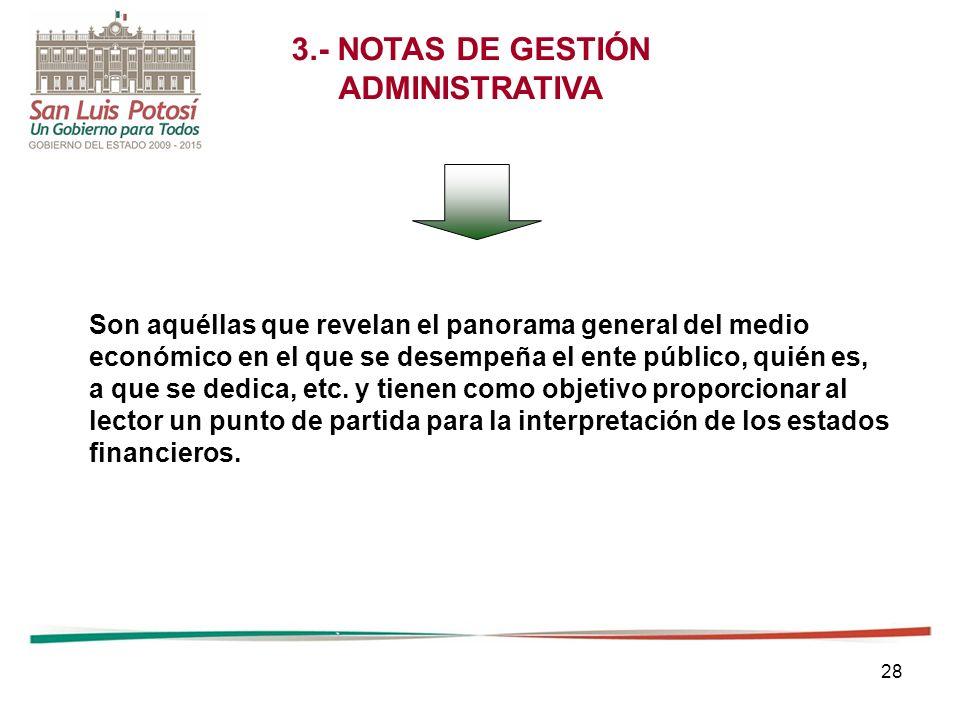 3.- NOTAS DE GESTIÓN ADMINISTRATIVA