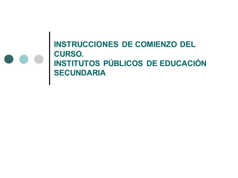 INSTRUCCIONES DE COMIENZO DEL CURSO
