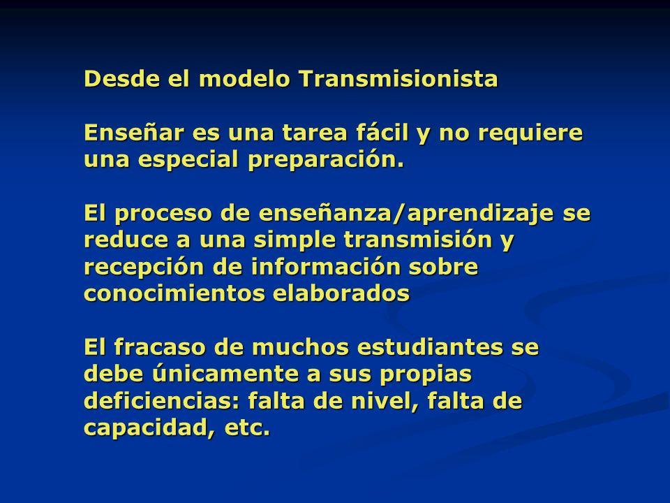 Desde el modelo Transmisionista