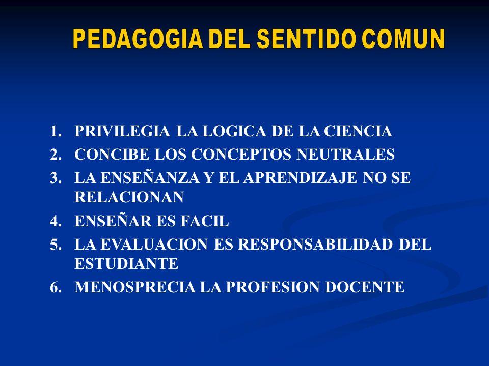 PEDAGOGIA DEL SENTIDO COMUN