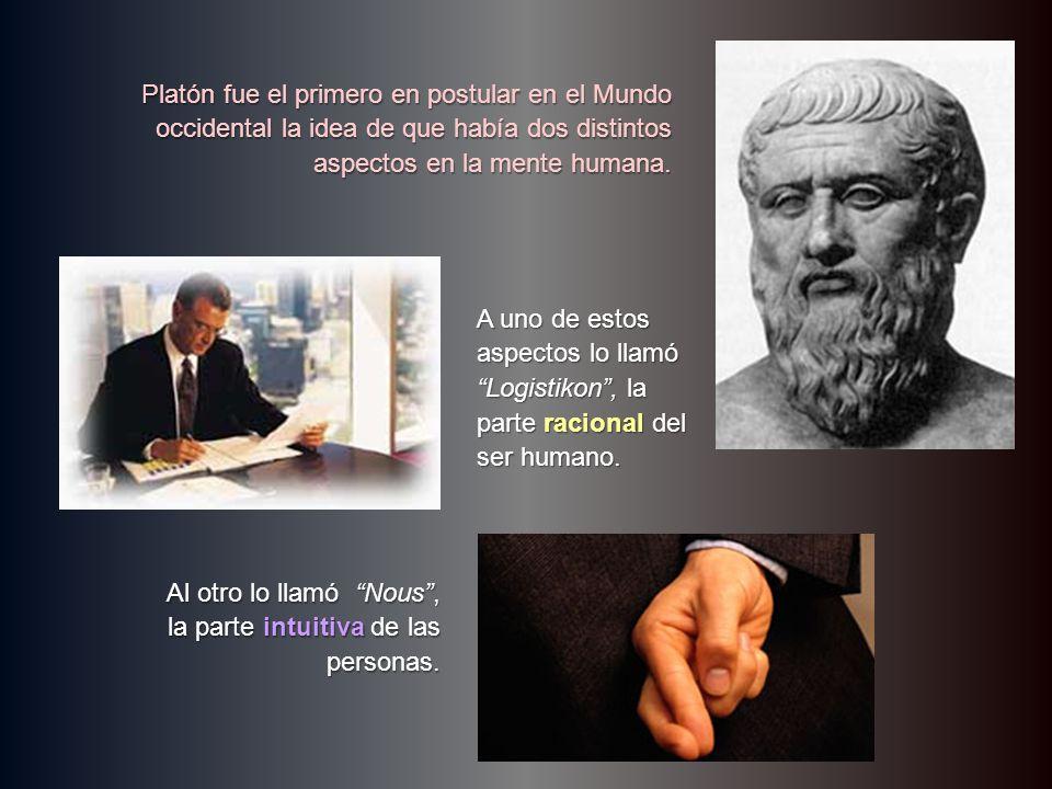 Platón fue el primero en postular en el Mundo occidental la idea de que había dos distintos aspectos en la mente humana.
