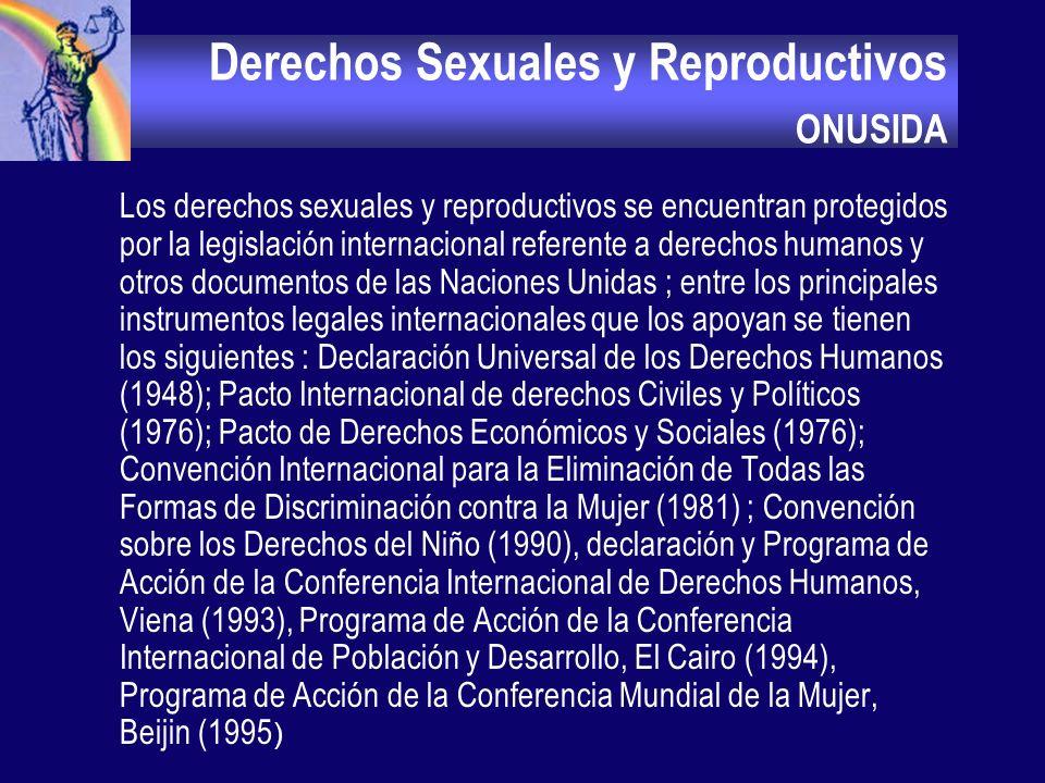 Derechos Sexuales y Reproductivos ONUSIDA