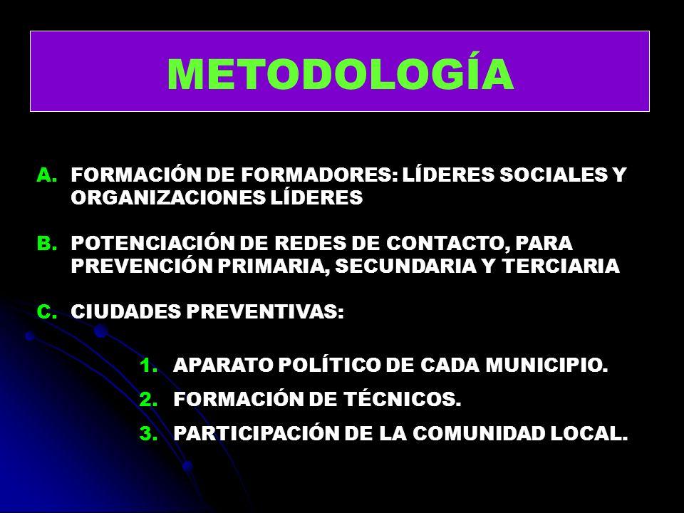 METODOLOGÍA FORMACIÓN DE FORMADORES: LÍDERES SOCIALES Y ORGANIZACIONES LÍDERES.
