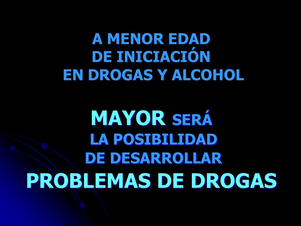 MAYOR SERÁ PROBLEMAS DE DROGAS