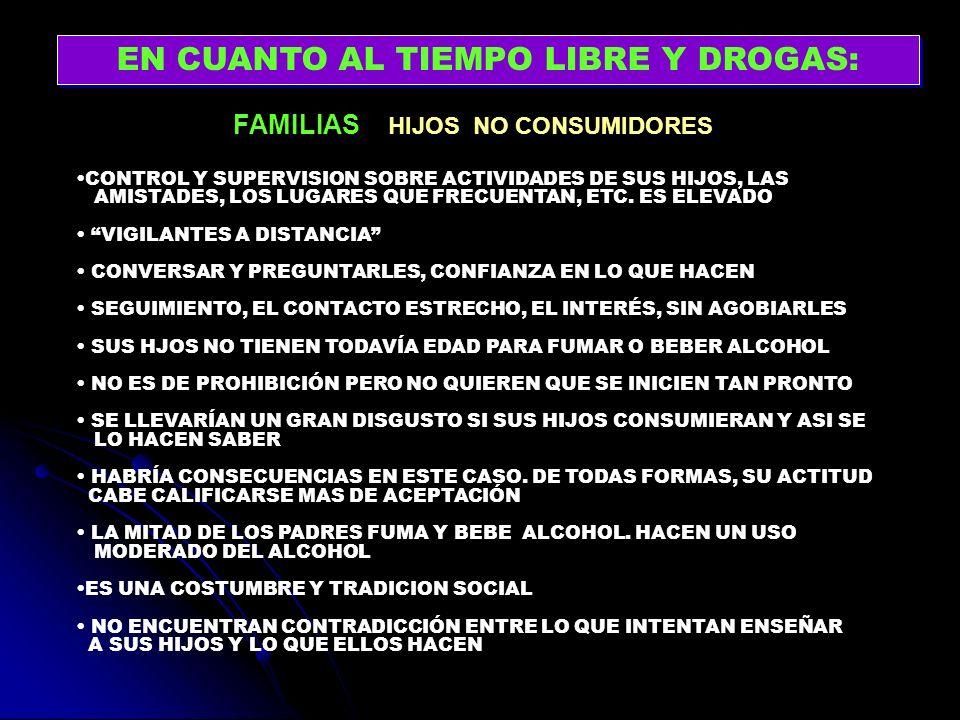 FAMILIAS HIJOS NO CONSUMIDORES