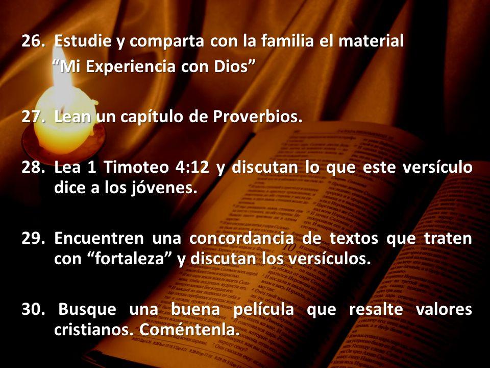 Estudie y comparta con la familia el material