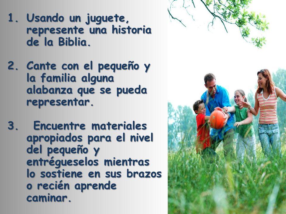 Usando un juguete, represente una historia de la Biblia.