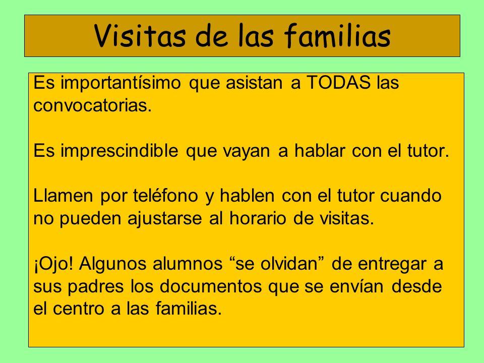 Visitas de las familias