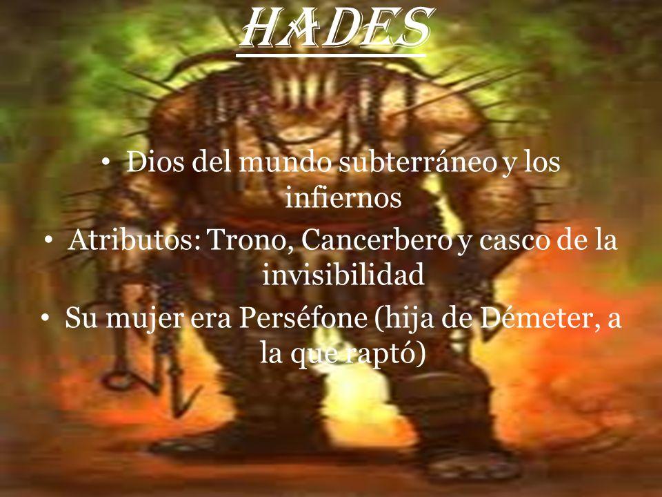 HADES Dios del mundo subterráneo y los infiernos