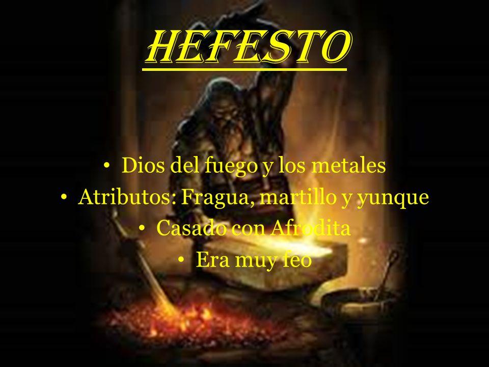 HEFESTO Dios del fuego y los metales