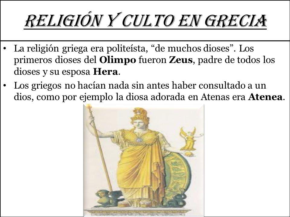 RELIGIÓN Y CULTO EN GRECIA