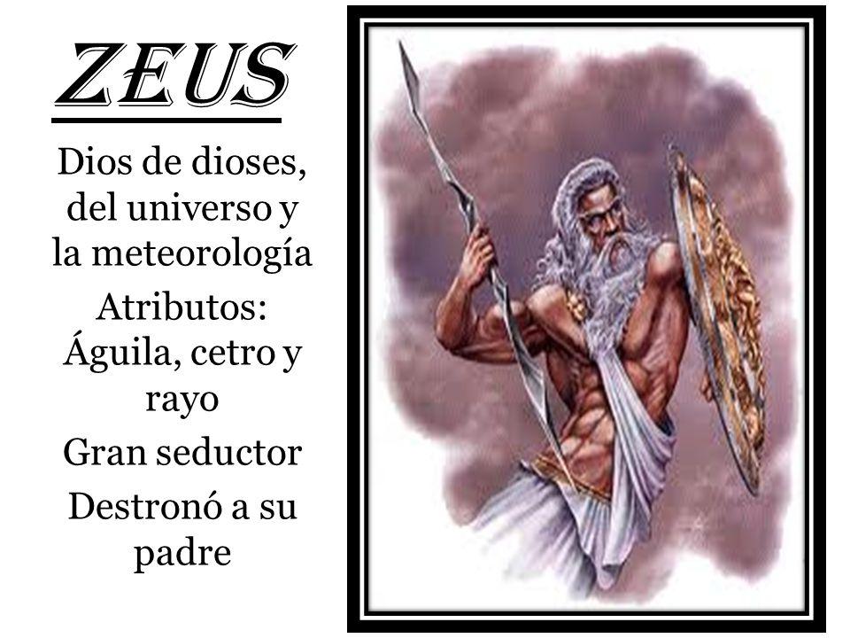 ZEUS Dios de dioses, del universo y la meteorología