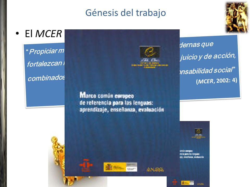 El MCER propone: Génesis del trabajo