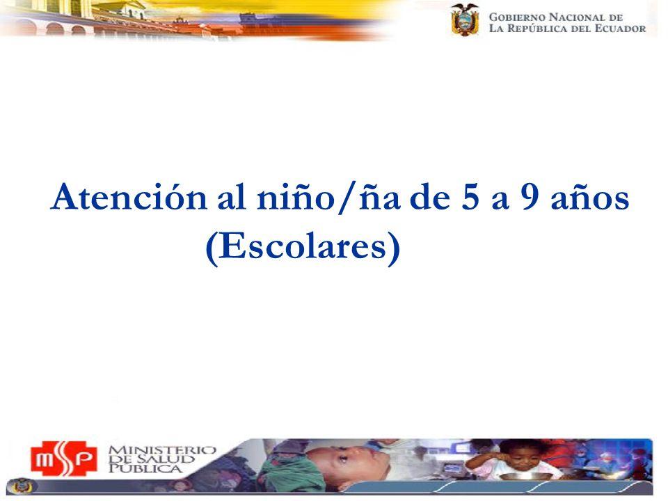 Atención al niño/ña de 5 a 9 años (Escolares)