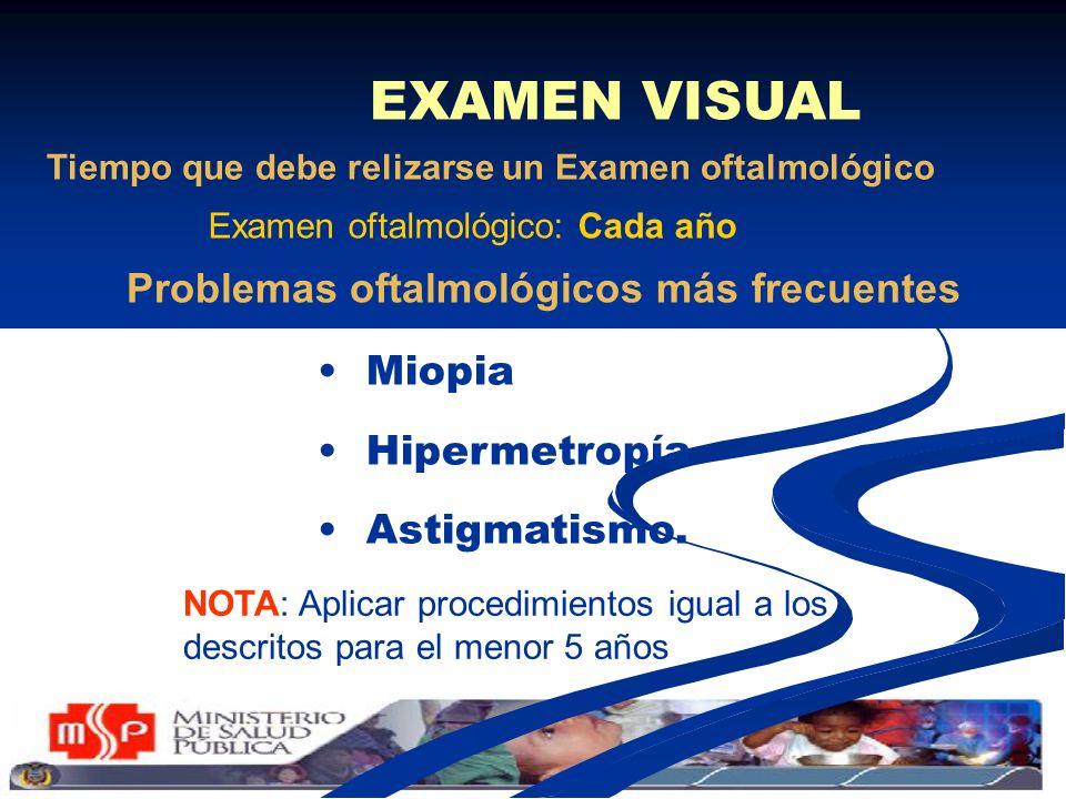 Problemas oftalmológicos más frecuentes