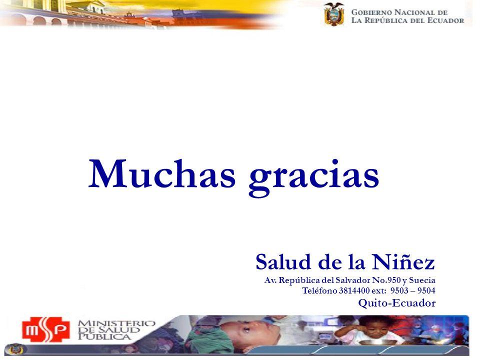 Muchas gracias Salud de la Niñez Quito-Ecuador