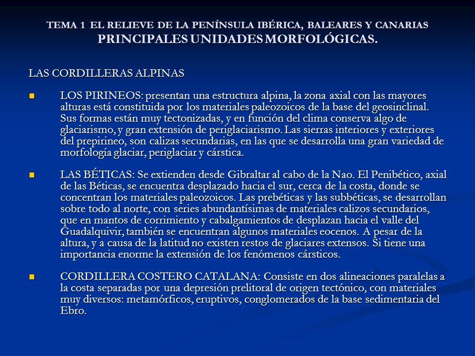 LAS CORDILLERAS ALPINAS