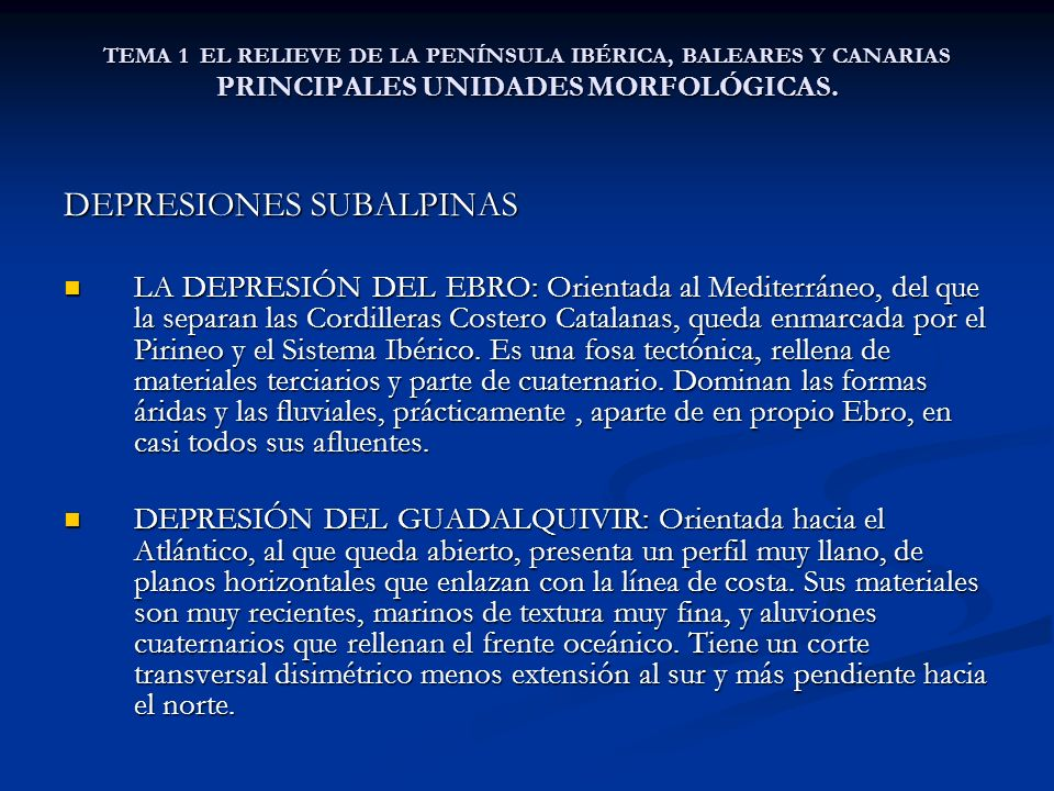 DEPRESIONES SUBALPINAS