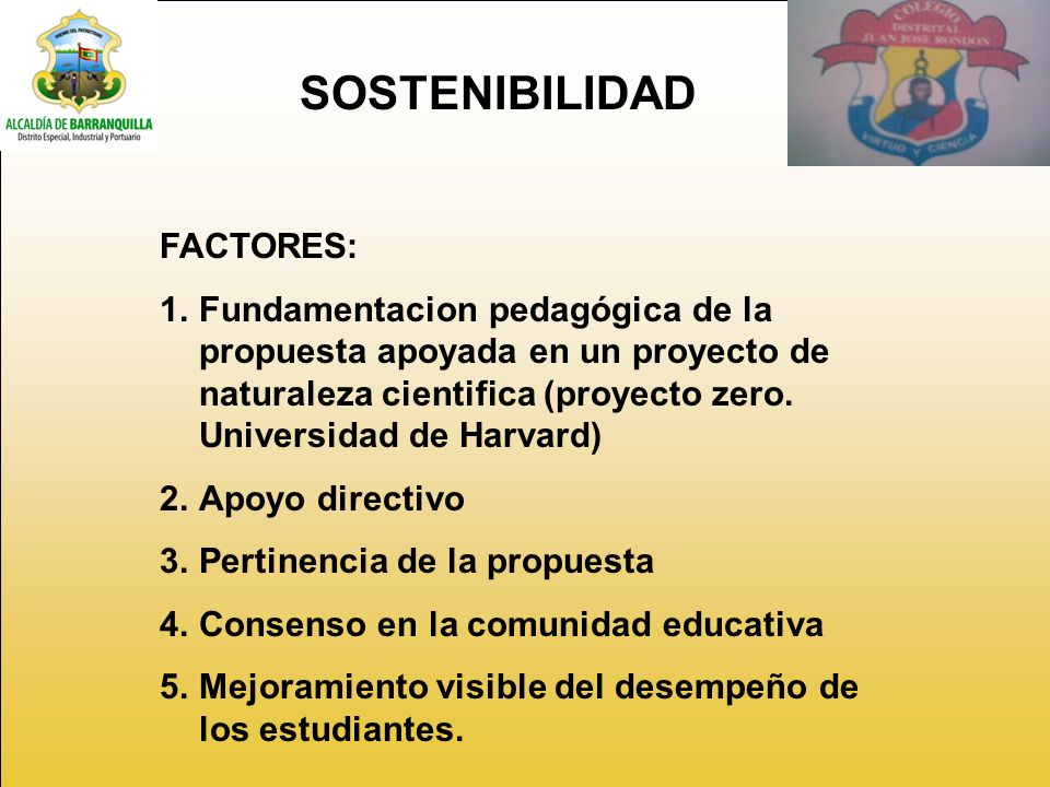 SOSTENIBILIDAD FACTORES: